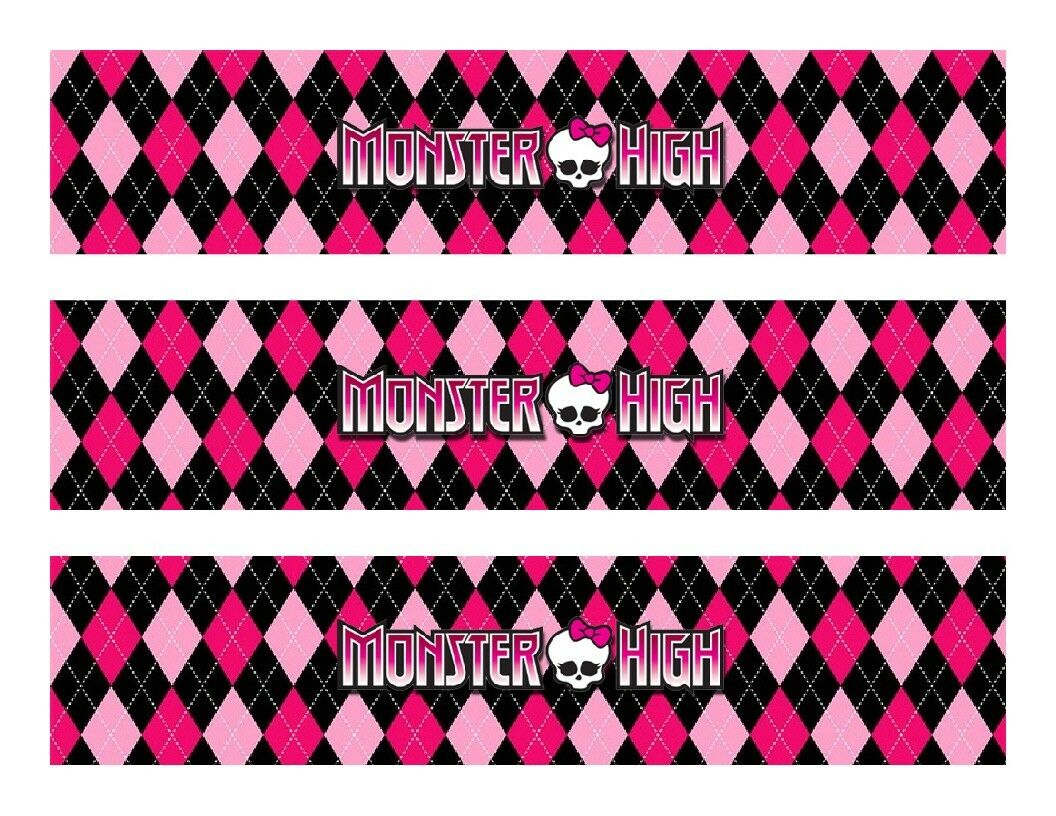 Monster High Edible Cake Strips - Cake Wraps - Cakes For Cures