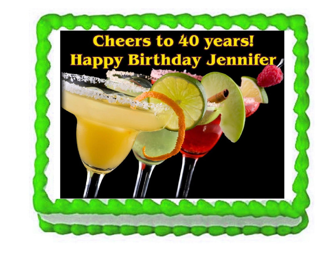 Margarita Party Edible Cake Image Cake Topper - Cakes For Cures