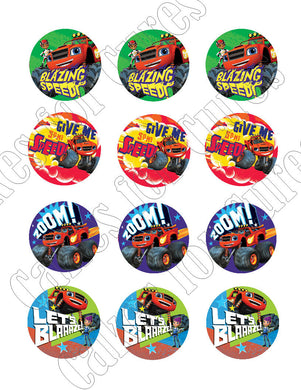 Blaze and the Monster Machines Edible Cupcake Toppers - Cakes For Cures