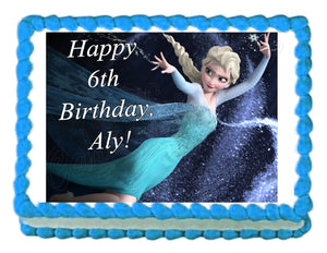 Frozen Elsa Edible Cake Image Cake Topper - Cakes For Cures