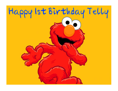 Sesame Street Elmo Edible Cake Image Cake Topper - Cakes For Cures