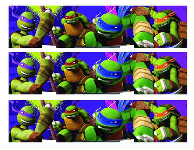 TMNT Teenage Mutant Ninja Turtles Edible Cake Strips - Cake Wraps - Cakes For Cures