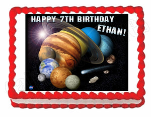 Solar System -Planets -Outer Space Edible Cake Image Cake Topper - Cakes For Cures
