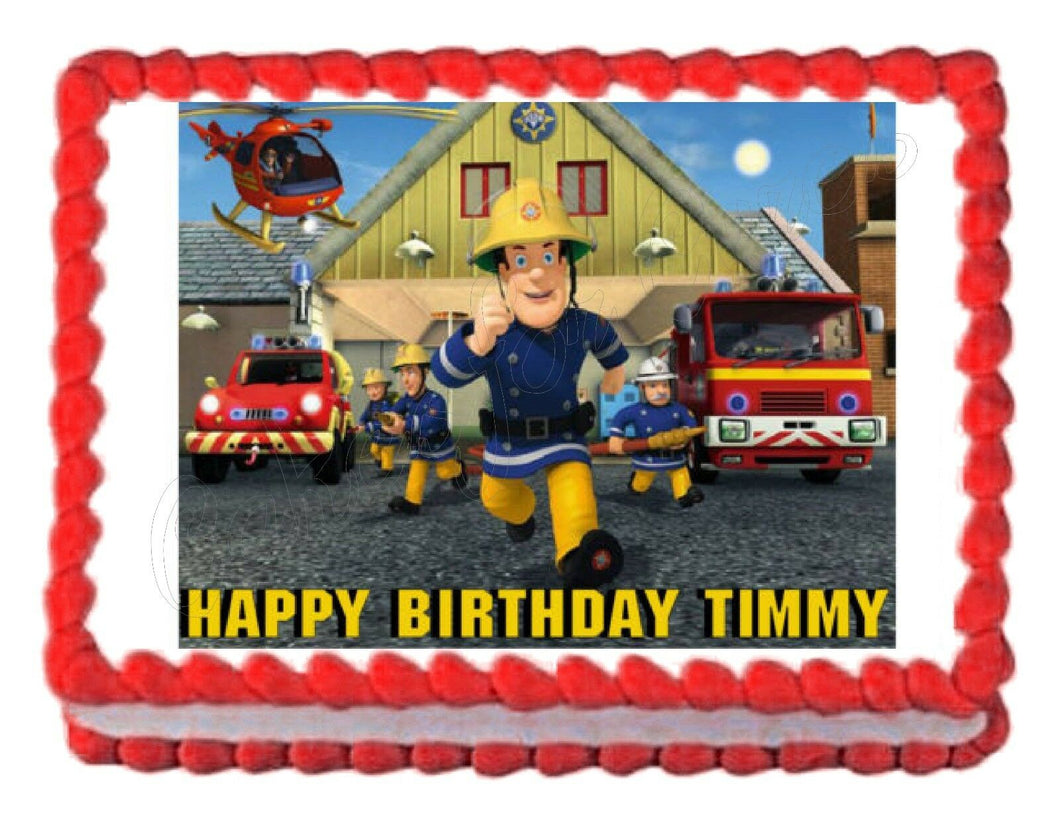 Fireman Sam Edible Cake Image Cake Topper - Cakes For Cures