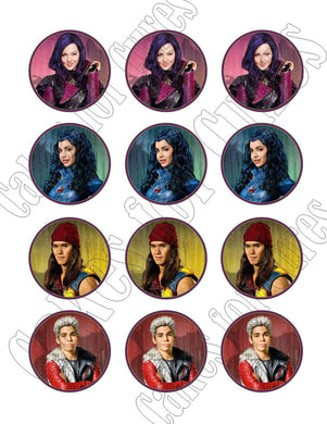 Disney Descendants Edible Cupcake Images - Cupcake Toppers - Cakes For Cures
