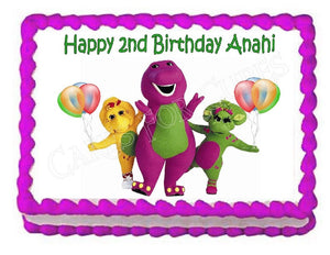 Barney Edible Cake Image Cake Topper - Cakes For Cures