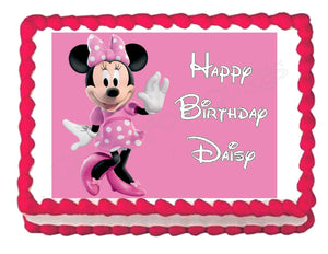 Minnie Mouse Edible Cake Image Cake Topper - Cakes For Cures