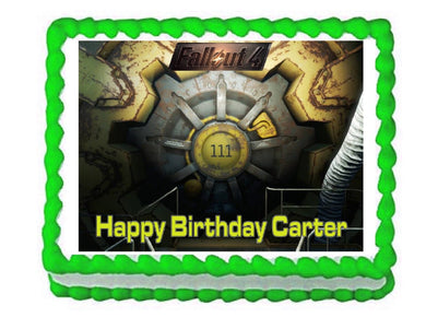 Fallout 4 Vault Door Gaming Edible Cake Image Cake Topper - Cakes For Cures