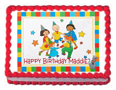 CAILLOU party edible cake topper image decoration frosting sheet- personalized - Cakes For Cures