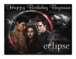 Twilight Eclipse edible cake topper frosting sheet party decoration - Cakes For Cures