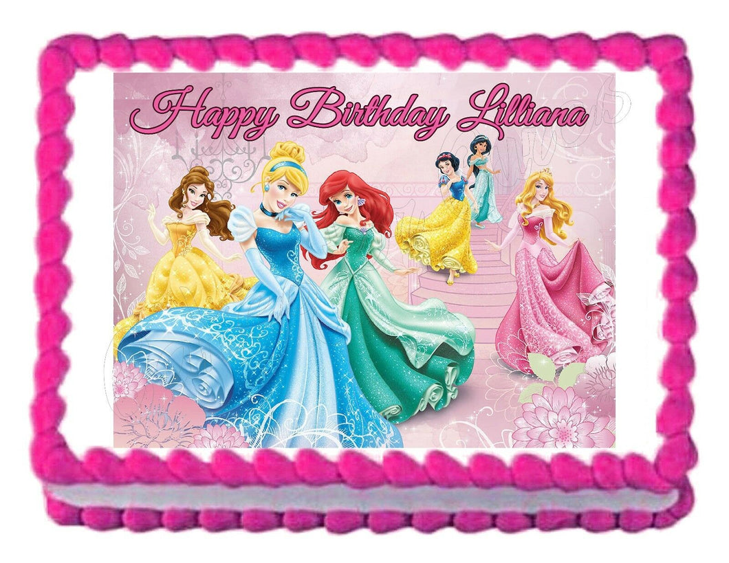 Disney Princess Edible Cake Image Cake Topper - Cakes For Cures