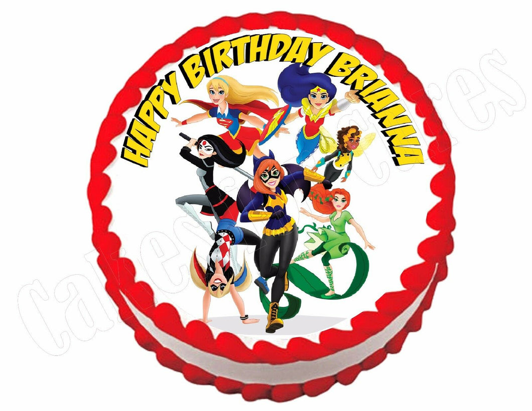Superhero girls Super hero Edible Cake Image Cake Topper - Cakes For Cures