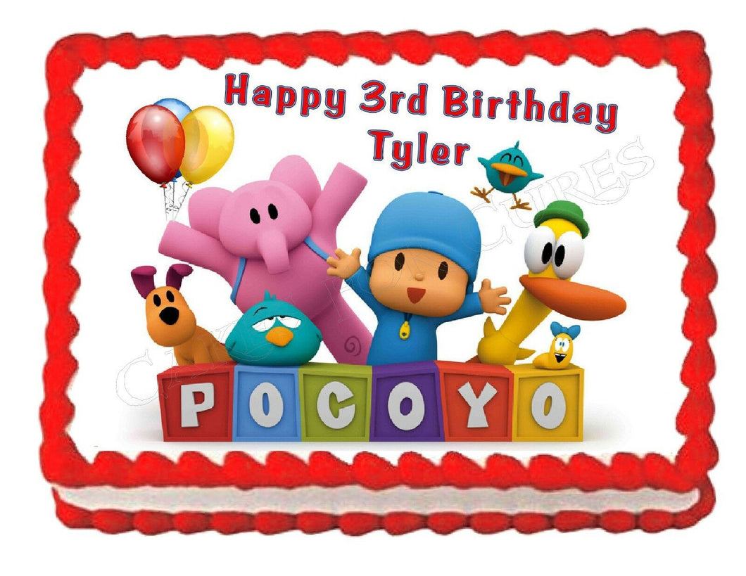 Pocoyo Edible Cake Image Cake Topper - Cakes For Cures
