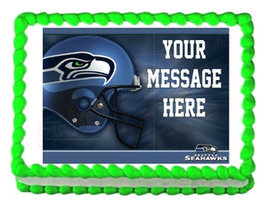 Seattle Seahawks Football Edible Cake Image Cake Topper - Cakes For Cures
