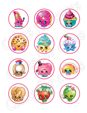 Shopkins Edible Cupcake Images Cupcake Toppers - Cakes For Cures