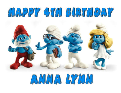 Smurfs Edible Cake Image Cake Topper - Cakes For Cures