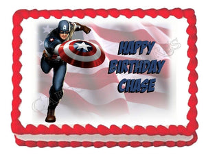Captain America Avengers edible party cake topper decoration cake image frosting sheet - Cakes For Cures