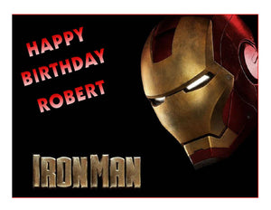 Ironman Avengers Edible Cake Image Cake topper - Cakes For Cures