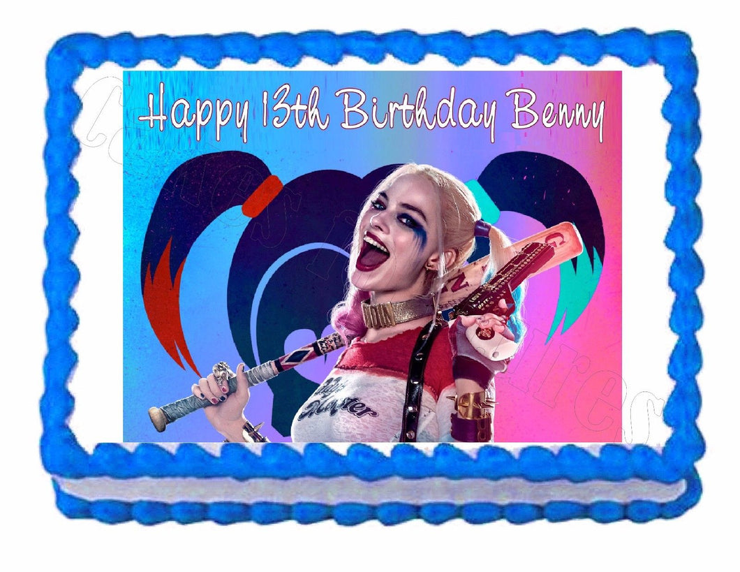 Suicide Squad Harley Quinn Edible Cake Image Cake Topper - Cakes For Cures