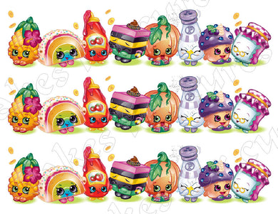 Shopkins Edible Cake Strips - Cake Wraps - Cakes For Cures