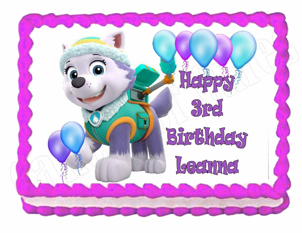 Paw Patrol Everest Edible Cake Image Cake Topper - Cakes For Cures