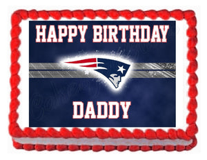 New England Patriots Football Edible Cake Image Cake Topper - Cakes For Cures