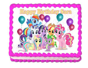 My Little Pony party Edible Cake Image Cake Topper - Cakes For Cures