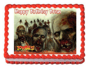 Zombies edible party edible cake image decoration cake topper - Cakes For Cures