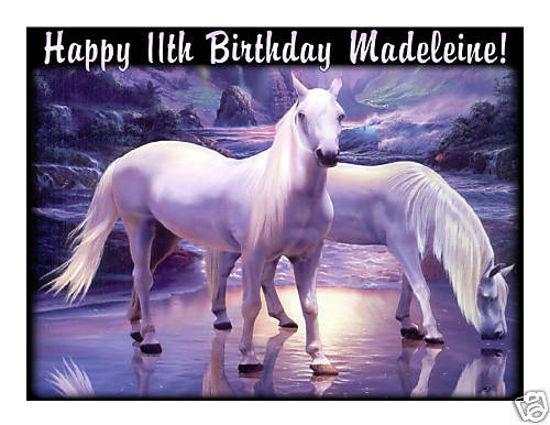 Mystical Horses Edible Cake Image Cake Topper - Cakes For Cures