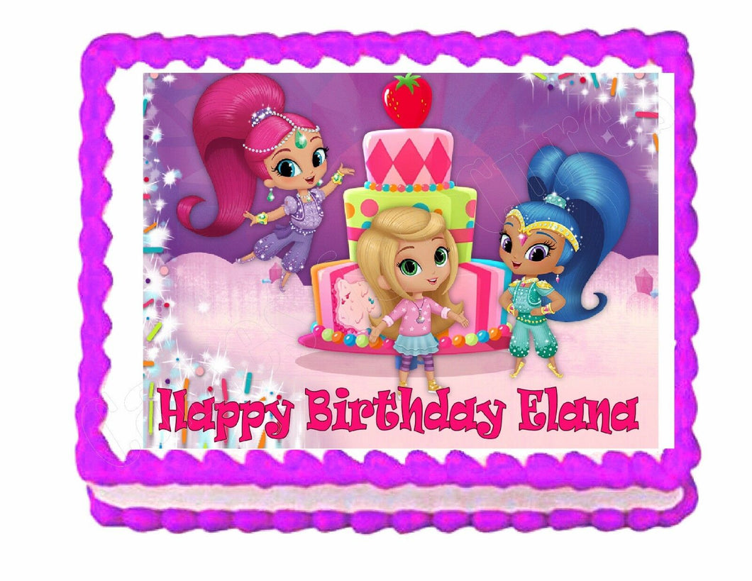 Shimmer and Shine Edible Cake Image Cake Topper - Cakes For Cures