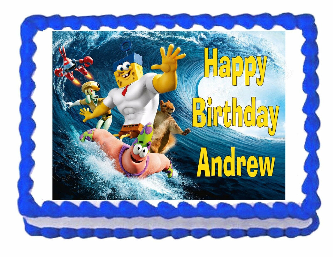 Spongebob Movie Edible Cake Image Cake Topper - Cakes For Cures