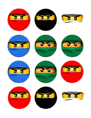 Ninja Edible Cupcake Images Cupcake Toppers - Cakes For Cures