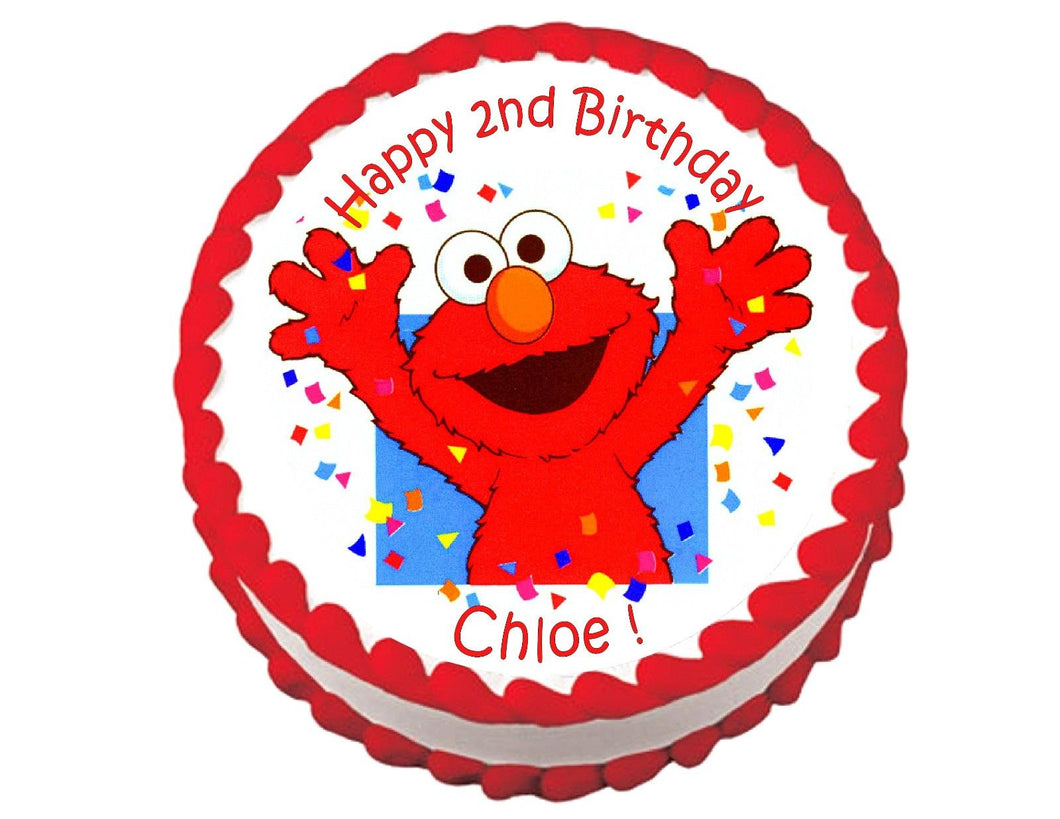 Elmo Sesame Street Round Edible Cake Image Cake Topper - Cakes For Cures