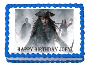 Pirates of the Caribbean Jack Sparrow Edible Cake Image Cake Topper - Cakes For Cures