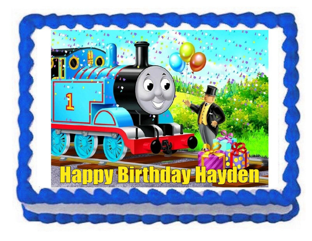 Thomas and Friends Train Edible Cake Image Cake Topper - Cakes For Cures