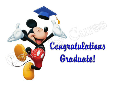 Mickey Mouse Graduation Edible Cake Image Cake Topper - Cakes For Cures