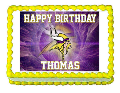 Minnesota Vikings Football Edible Cake Image Cake Topper - Cakes For Cures