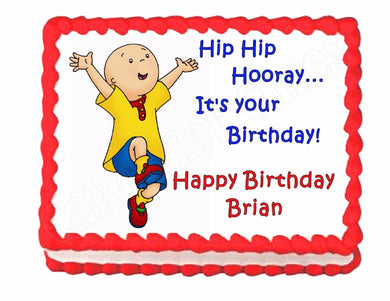 Caillou edible birthday cake image decoration frosting sheet-personalized free! - Cakes For Cures