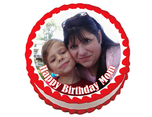 Custom photo round edible party cake topper cake image - Your picture on a cake - Cakes For Cures