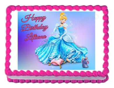 Cinderella Princess Edible Cake Image Cake Topper Decoration - Cakes For Cures