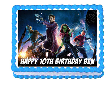 Guardians of the Galaxy Avengers Edible Cake Image Cake Topper - Cakes For Cures