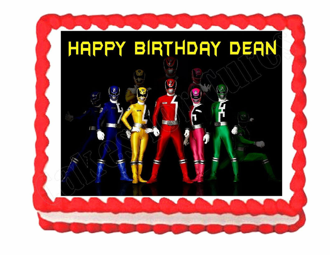 Power Rangers Edible Cake Image Cake Topper - Cakes For Cures