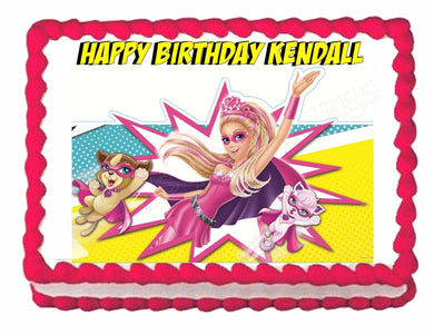 Barbie in Princess Power Edible Cake Image Cake Topper - Cakes For Cures