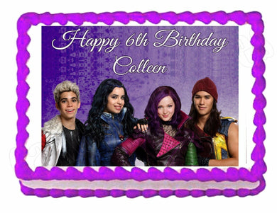 Disney Descendants Edible Cake Image Cake Topper - Cakes For Cures