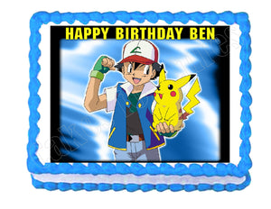Pokemon Edible Cake Image Cake Topper - Cakes For Cures