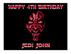 Star Wars Darth Maul Edible Cake Image Cake Topper - Cakes For Cures