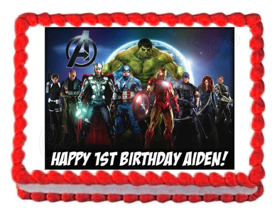Avengers Edible Cake Image Cake Topper - Cakes For Cures