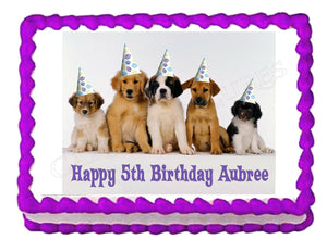 Puppy Party Edible Cake Image Cake Topper - Cakes For Cures