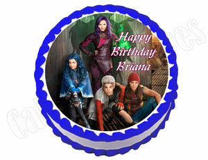 Disney Descendants *ROUND* Edible Cake Image Cake Topper - Cakes For Cures