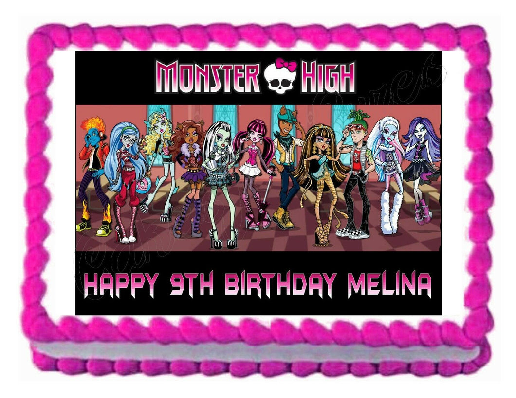 Monster High Edible Cake Image Cake Topper - Cakes For Cures